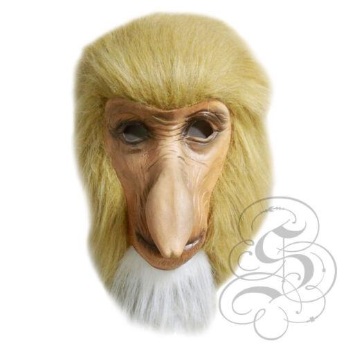 Latex Full Head Animal Proboscis Monkey Fancy Dress Up Carnival Prop Party Mask