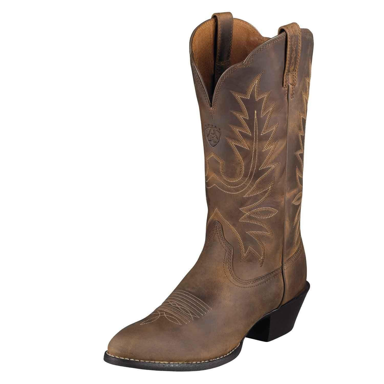 Ariat Womens Heritage R Toe Cowboy Western Boot Distressed Brown 10001021 NIB