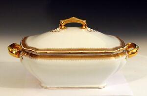 Antique-Hutschenreuther-Tureen-German-Porcelain-Server-Serving-Covered-Bowl