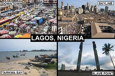 SOUVENIR FRIDGE MAGNET of LAGOS NIGERIA