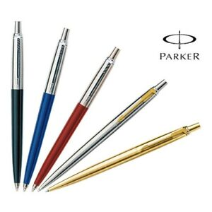 Parker Jotter Ballpoint Pen Black Blue Red Silver With Gold Clip and Gold