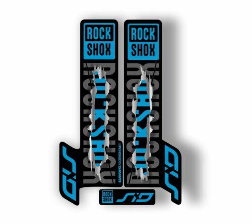 Rock Shox SID 2018 Mountain Bike Cycling Decal Kit Sticker Adhesive Metal Torn