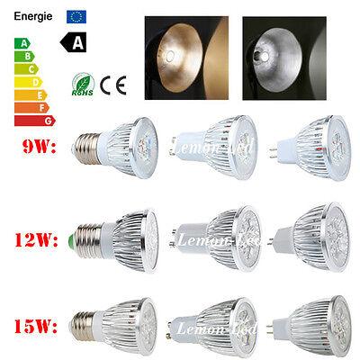 E27 UG10 MR16 LED Spotlight Bulb Energy Save Downlight Lamps Lighting 9W 12W 15W
