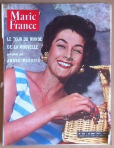 Rivista-Magazine-Marie-France-n-558-Aout-1955-Vintage-fashion-advertising