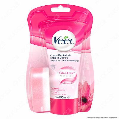 Veet Crema Depilatoria Sotto la Doccia Silk & Fresh Per Pelli Normali - 150 ml
