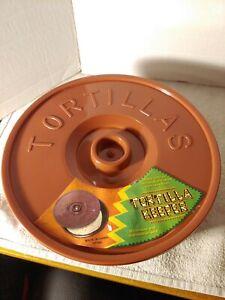New Mexican Tortilla Keeper Microwave Warmer Pancake Server Pita Round 8 inch !!