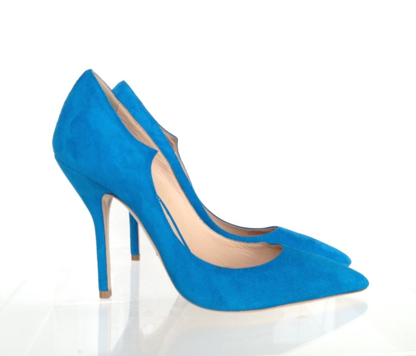 PAUL ANDREW for for ANDREW J.CREW Suede Pumps Sz 7 Vivid Cerulean Blue e1326 $398 41675f