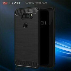 Carbon-Fiber-Hybrid-Shockproof-Heavy-Duty-Case-Cover-For-LG-V30
