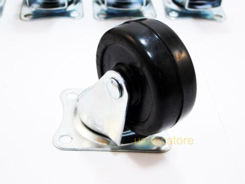 "50 pcs swivel caster wheels 2/"" rubber base with top plate /& bearing heavy duty"