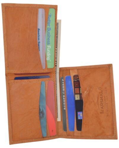 Men/'s Genuine Leather L Shape Slim Thin Credit Card ID Holder Bifold Wallet NEW