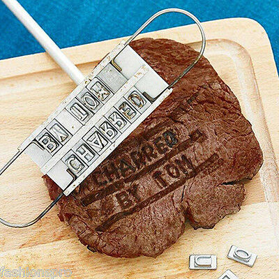 Personality Steak Meat Barbecue BBQ Branding Iron55Letter Shape Mold Baking Tool