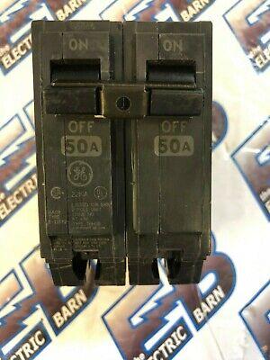 2 POLE 50 AMP 240 VOLT 22kA BOLT ON Circuit Breaker NEW GE THHQB2150