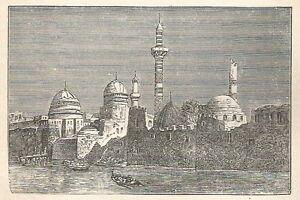 A6302-Mosul-Moschee-Stampa-Antica-del-1928-Incisione