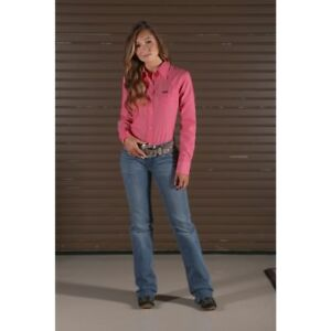 Wrangler-Women-039-s-Watermelon-Pink-Snap-Up-Western-Shirt-LW6601K