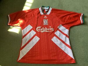 Vintage Original Rare Adidas Liverpool Home Shirt 1994 95 96 Size XL CARLSBERG