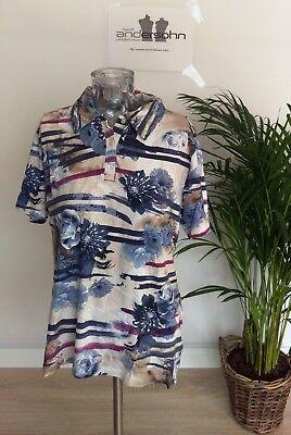* ●✿ Marinello Shirt Da Donna Polo Multicolore Taglia L ✿● * * F 033 *- Prodotti Di Qualità In Base Alla Qualità