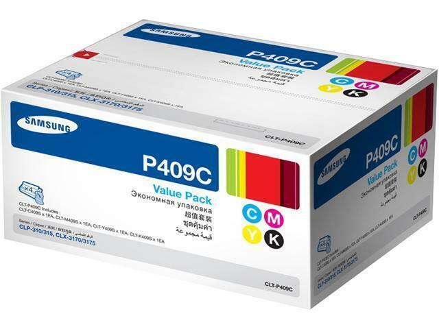 Samsung GENUINE P409C CLT-P409C Toner Cartridges C M Y K Value Pack Combo Set