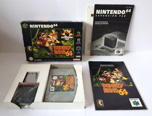Donkey Kong 64 N64 completa Inc oficial N64 expansión pak en muy buena condición