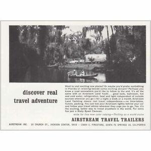 Beach Ball Vintage Print Ad 1968 Airstream Travel Trailers