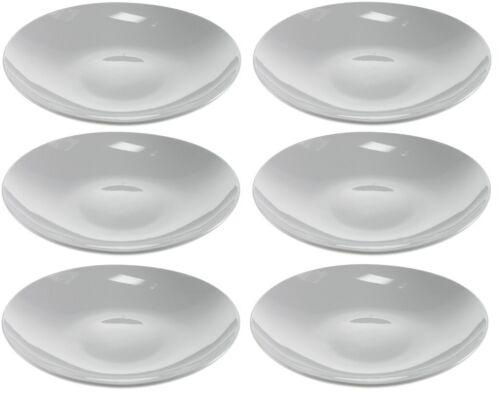 6 Speiseteller weiß 21 cm Salat Pasta Speise Nudel Teller Keramik Set Flach