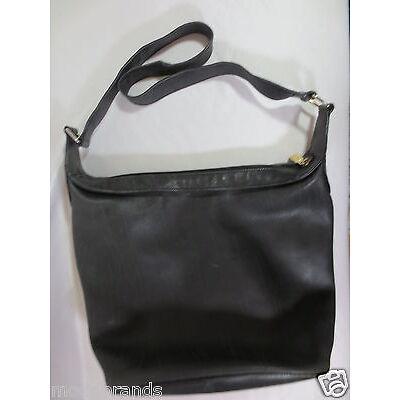 Tasche Shopper ESCADA Ledertasche Beuteltasche schwarz vintage/W70