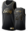 UK KOBE Bryant #24 LA Lakers Los Angeles Golden Edition Basketball Jersey Black