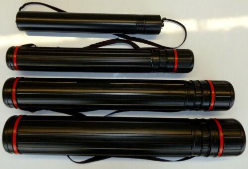 4er SET Zeichnungsrollen Teleskoprohr Versandrohr Transportrolle Zeichnungsröhre