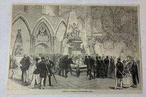1885-Rivista-Incisione-Burial-di-Charles-Dickens-Abbazia-di-Westminster
