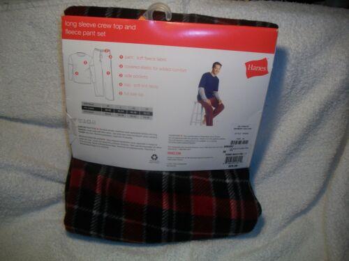Hanes Homme à Manches Longues Ras-Du-Cou Haut Et Polaire Pyjama Pantalon. * NEUF//avec étiquette taille XL