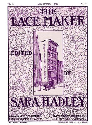 December Sara Hadley #1.12 1903 Study in Modern Flemish Lace Making