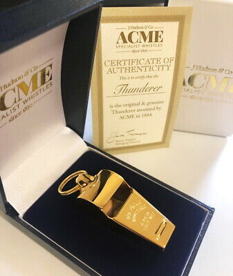 ACME 58.5 Thunderer Whistle Free Lanyard W//Ring Rugby Footy Referee Whistle