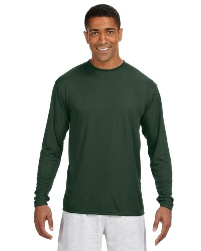 A4 Men/'s Long Sleeve Cooling Performance Crew Shirt N3165 S-3XL