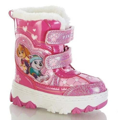 PAW PATROL SKYE Faux-Fur Waterproof Insulated Snow Boots NWT Toddler/'s Size 8
