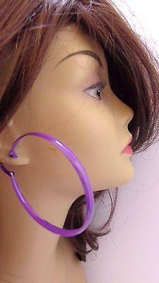LARGE 3 INCH HOOP EARRINGS ASSORTED COLOR SNAKE PRINT THICK HOOPS