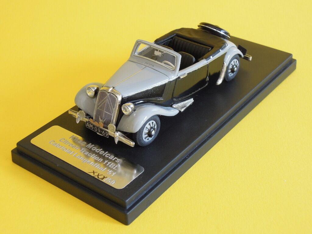 Khan Citroen Traction 11BL Cabriolet Langenthal '51 n/Heco Jade CCC Davos 1/43