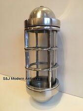PARATIA Industriale Luce Parete Vintage Antico Retrò GABBIA Nave Lampada in alluminio