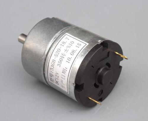 Gear Motor 33GB-520 DC 6V-12V slowdown in motor gear box 170-350 rpm