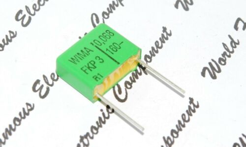 10pcs 160V 5/% pitch:15mm  Capacitor 0.068µF 0,068uF 68nF WIMA FKP3 0.068uF