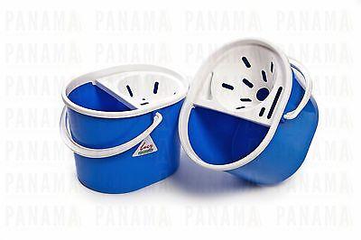 SYR Lucy Oval Blue Mop Bucket c/w Sieve 7ltr x2 (L1405292)