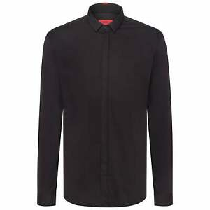 Hugo Boss Etran Black Extra Slim Fit Shirt Long Sleeve 50415306