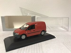Minichamps-1-43-VW-Caddy-coche-modelo-modelcar-scale-model-car-regalo-van-rojo
