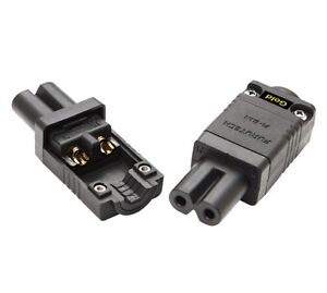 1-Stecker-Furutech-FI-8-1N-G-Kaltgeraetestecker-C7-IEC-Slimline-vergoldet