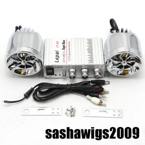 Hot Motorcycle Audio Stereo Hi-Fi Amplifier with Two Fashion Speakers