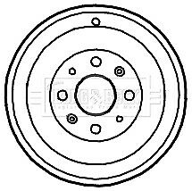 Fiat Punto 199 1.4 Tambor de freno trasero 2008 en 228.3mm B/&B 51901443 55701380 Calidad