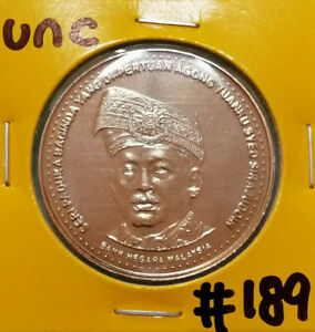RM1 Commemorative Coin 2002 - Agong (UNC) #189