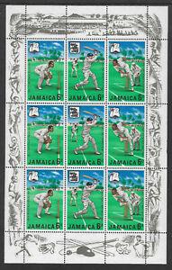 JAMAICA 1968 MCC CRICKET TOUR WEST INDIES Sheetlet MNH