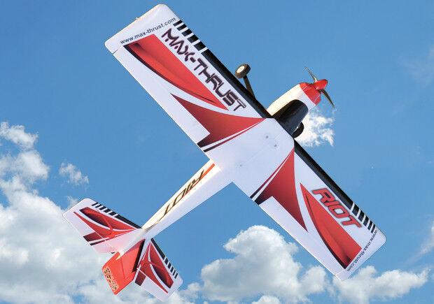 Max-Thrust Riot V2 Radio Remote Control Model Sports Plane - Red