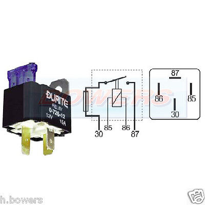 DURITE 0-726-24 24V VOLT 15A AMP 4 PIN MAKE BREAK FUSED MINI RELAY WITH BRACKET