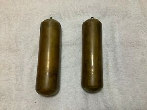Antique-Longcase-Weights-Bronze-and-Copper-Lead-Weights-For-Grandfather-Clock
