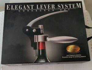 L'Atelier elegant lever system corkscrew set Les Classical collection in box